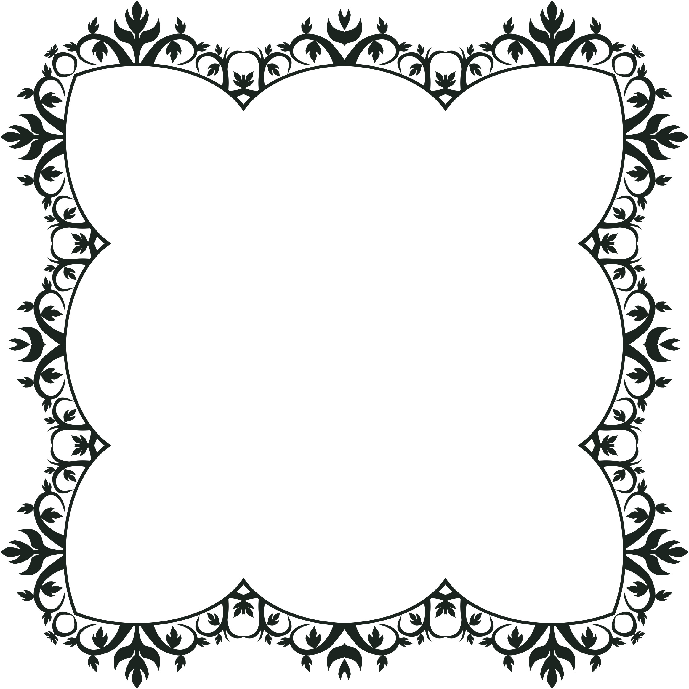 Ornamental frame png. Clipart ornament extended big