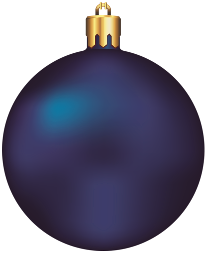 Ornament transparent dark blue. Christmas ball clipart d