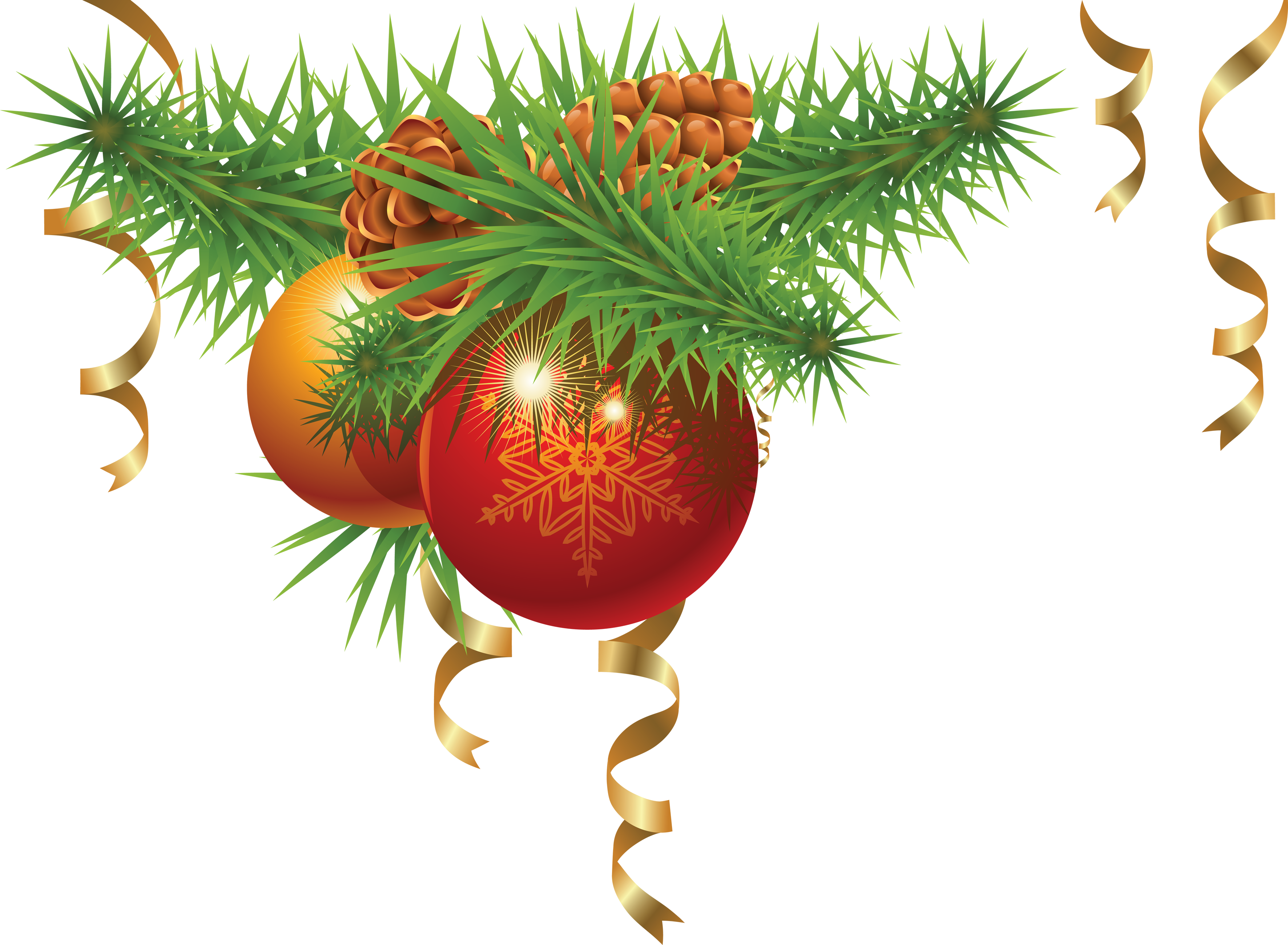 New yeard ornaments png. Christmas images download decoration