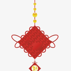 Ornaments clipart chinese new year. Festive red ornament festival