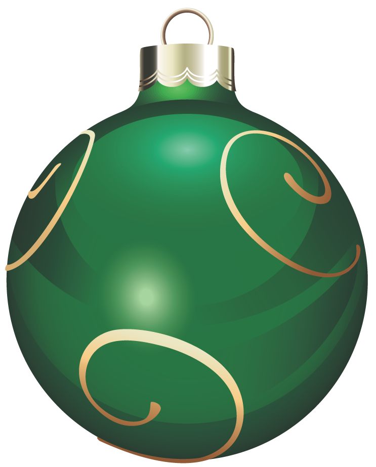 Ornaments clipart clear background. Transparent green and gold