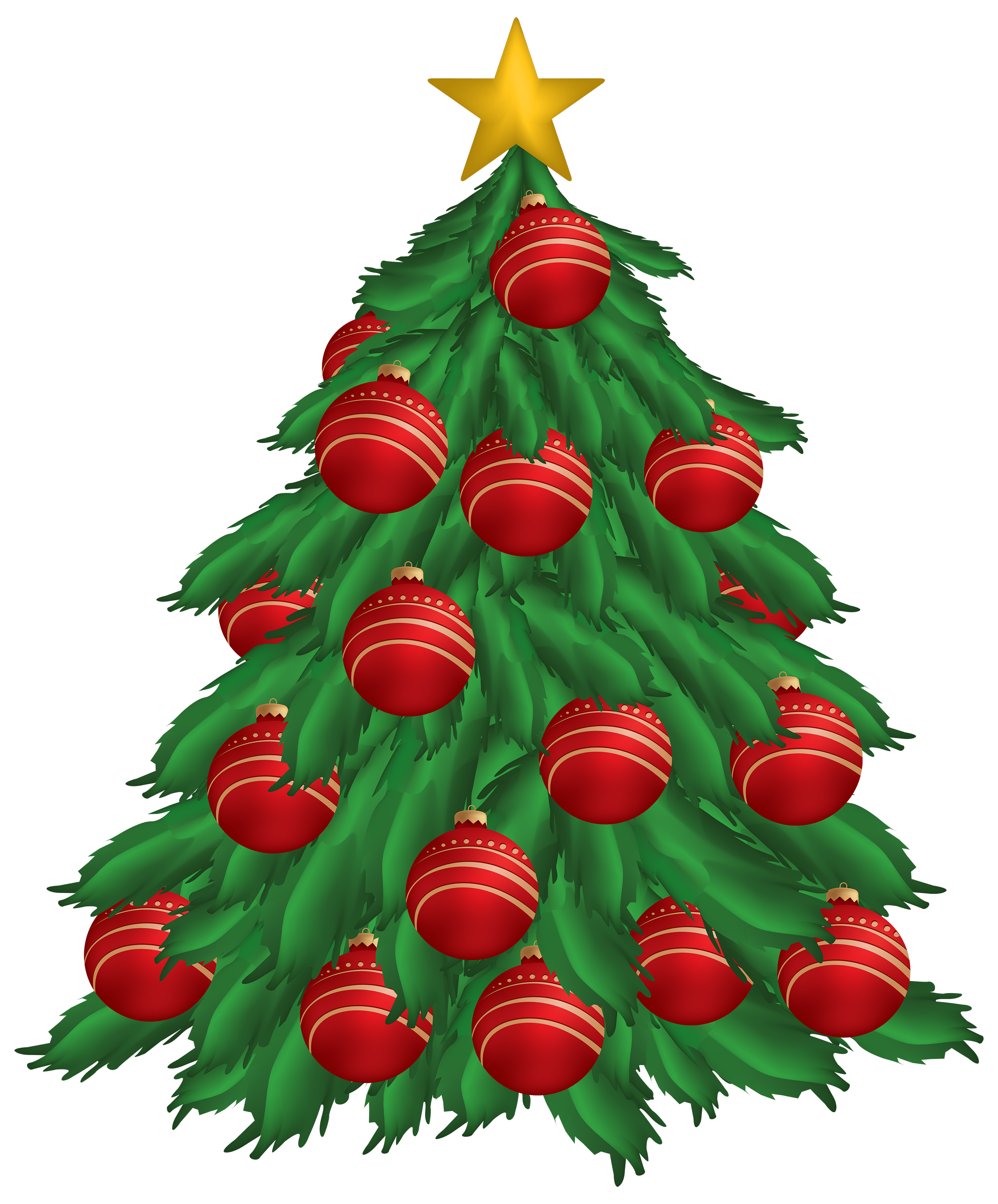 decorated christmas trees png