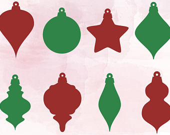 Ornaments clipart svg. Christmas tree cut files