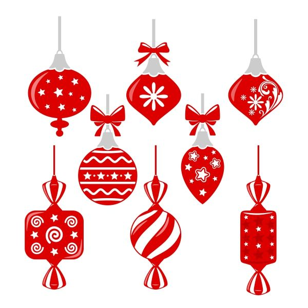 Ornaments clipart svg. Holiday cuttable design cut