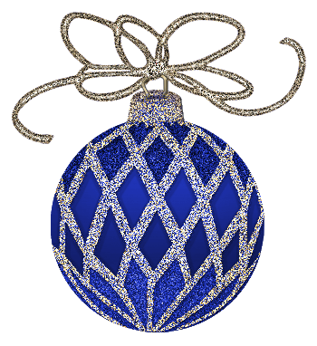 Blue and silver ornaments png. Christmas ornament clip art