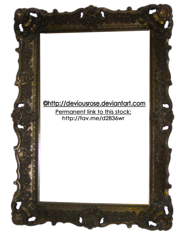 Ornate frame png. Stock by deviousrose on