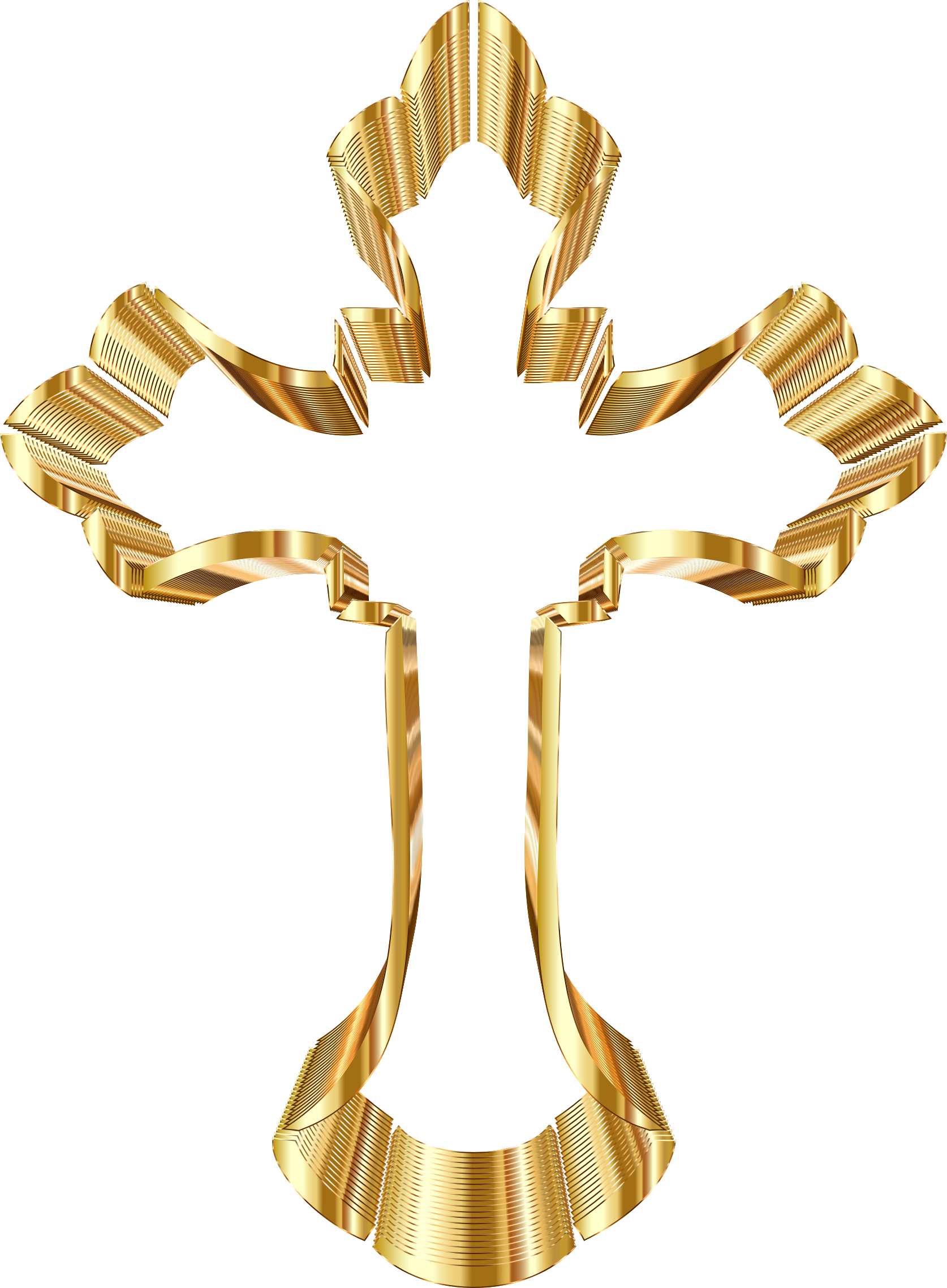 Ornate cross png. Gold no background icons