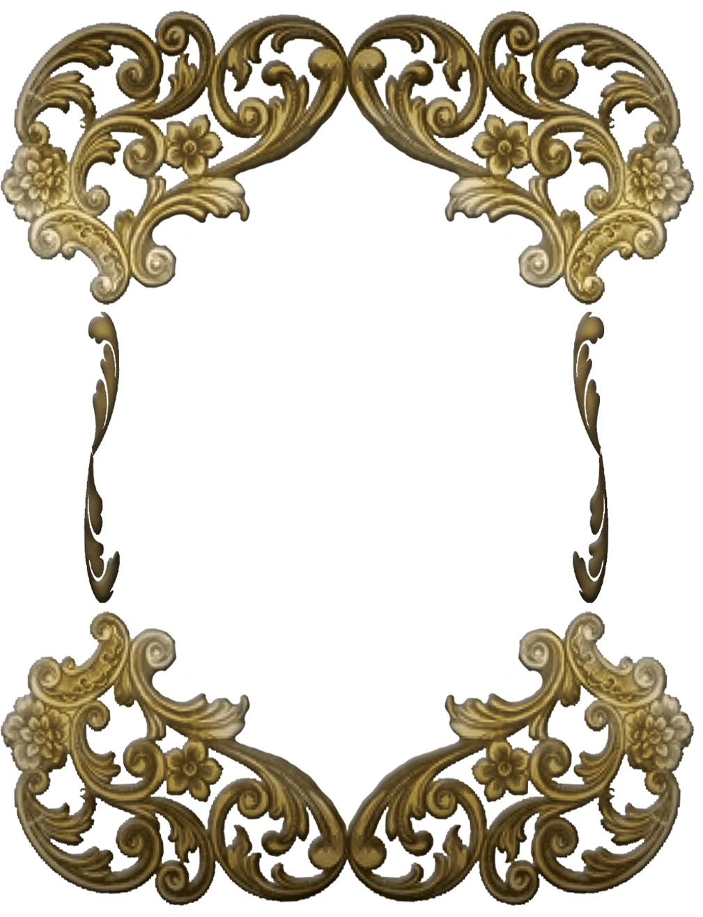 Vector gold victorian. Frame png transparent images