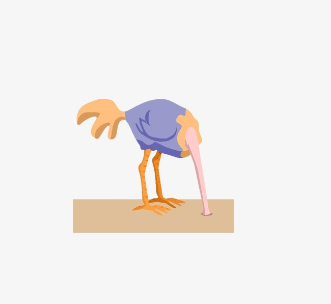 Ostrich clipart ostrich head. Burying its in the