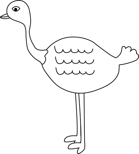 Ostrich clipart white background. Black and clip art