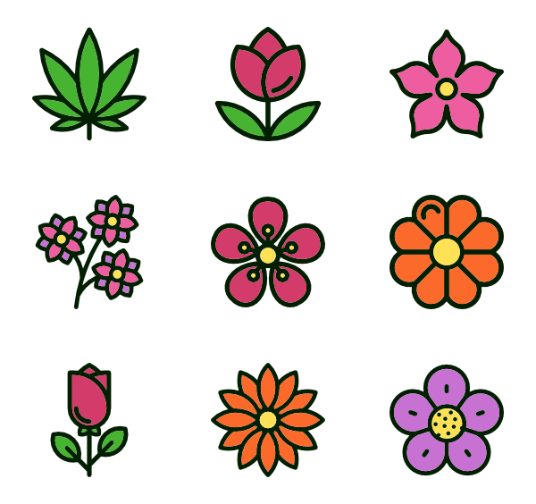 Flower sprite png. Flowers round icon