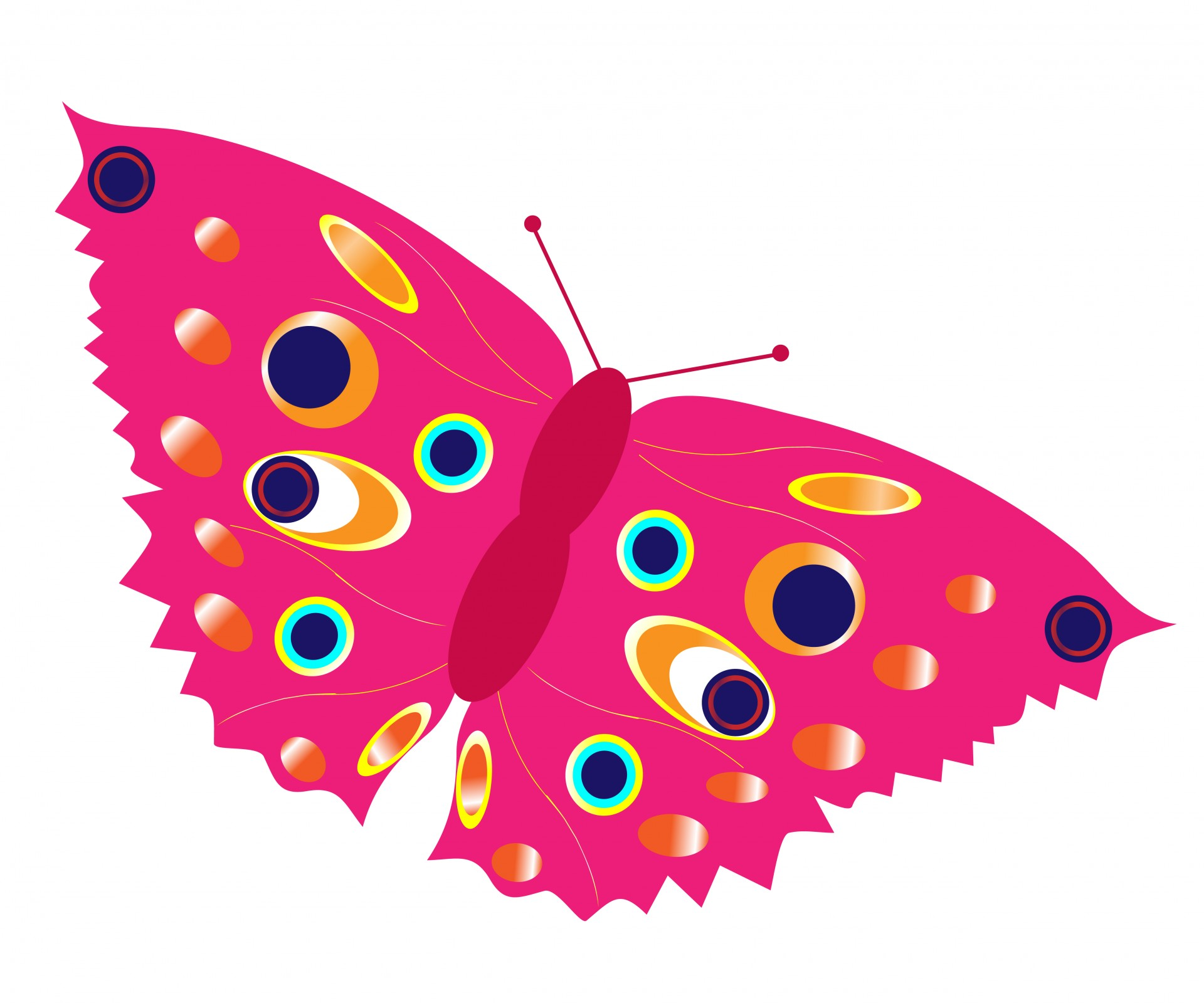 Other clipart colorful butterfly. Pink free stock photo