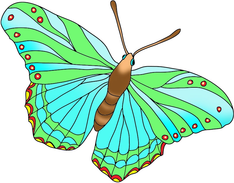 Other clipart colorful butterfly. Beautiful images blue and