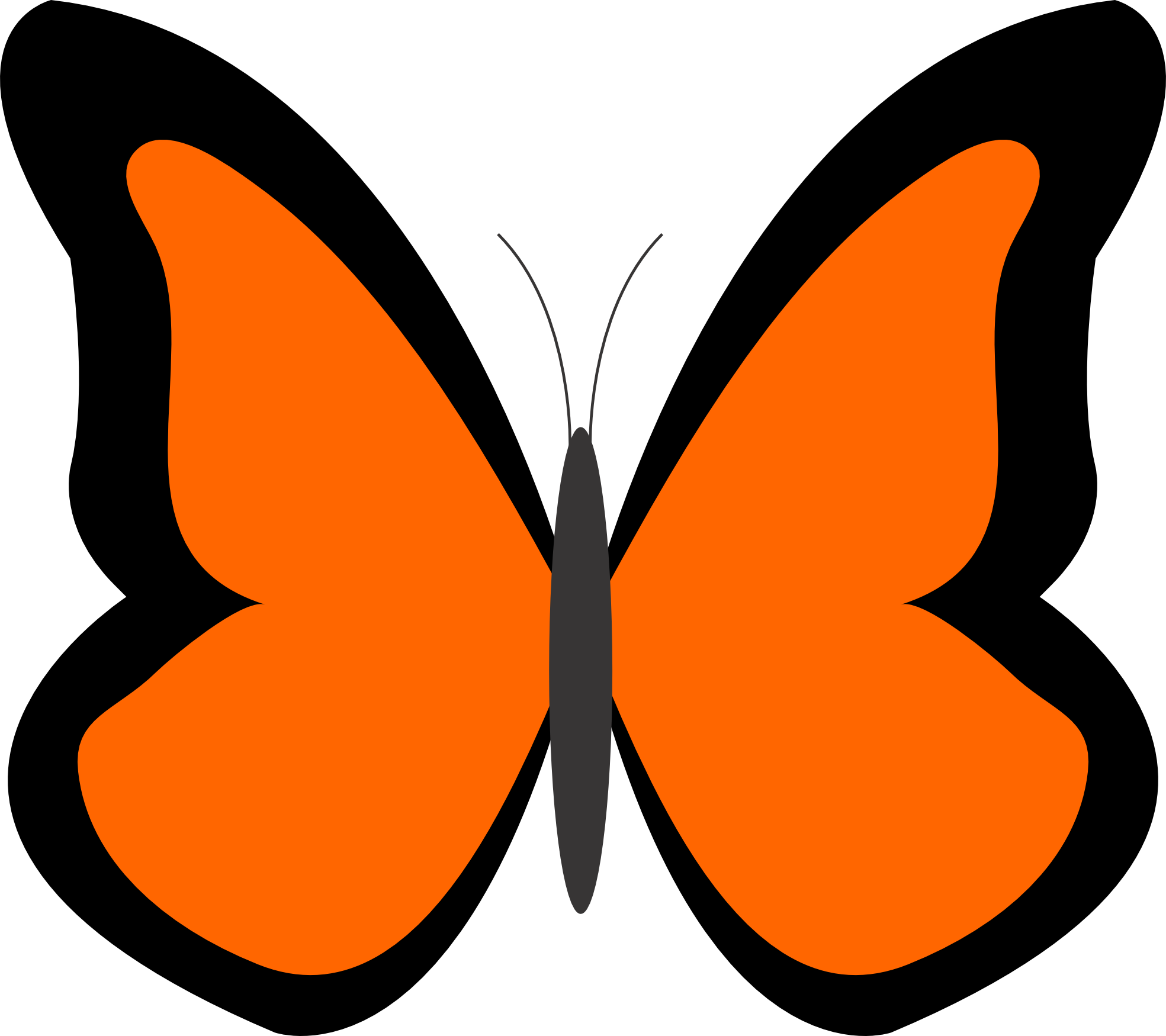 Other clipart colorful butterfly. Orange
