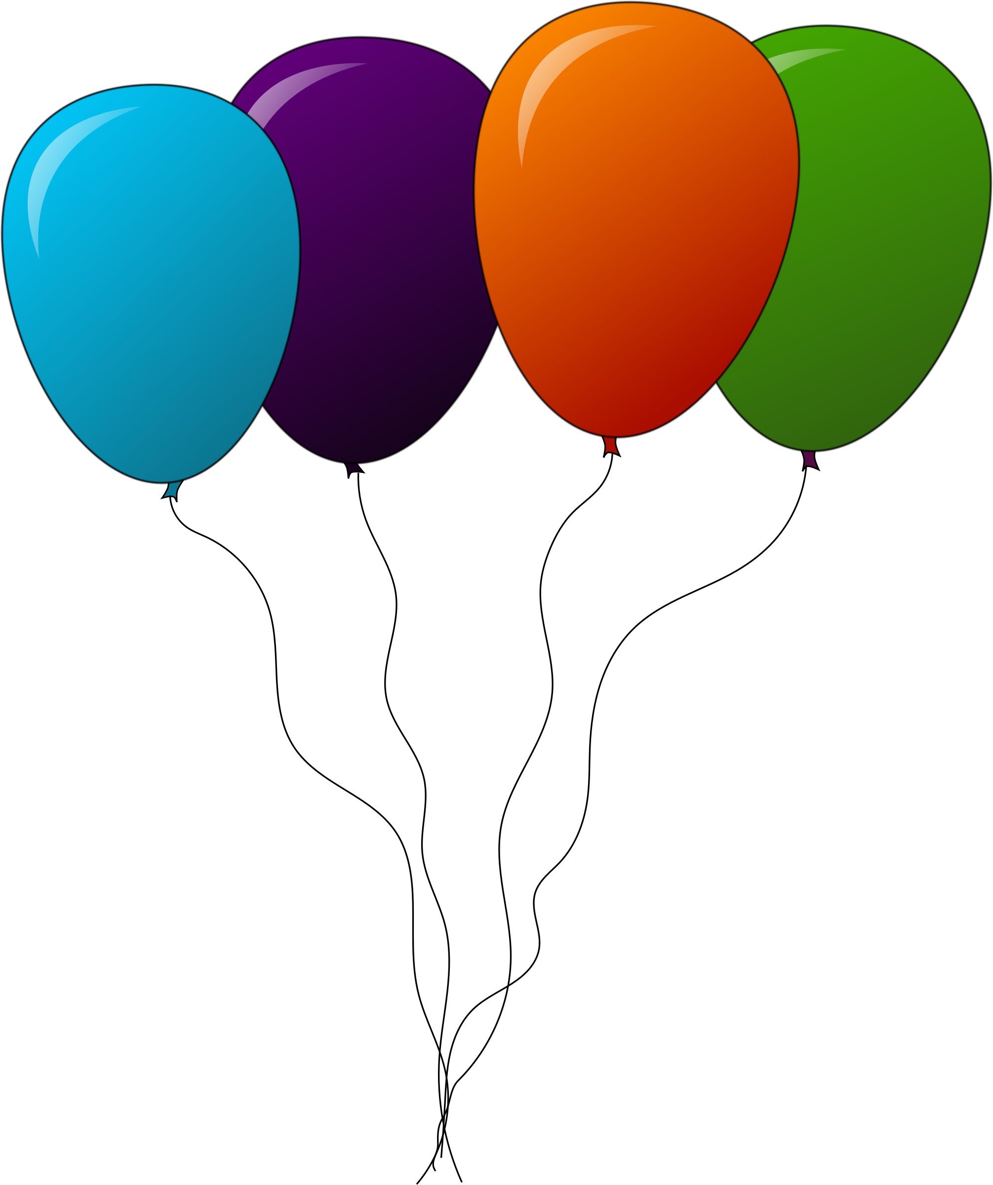 Other clipart colourful balloon. Colored balloons big image