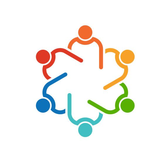 Others clipart teamwork. People agenda meeting logo