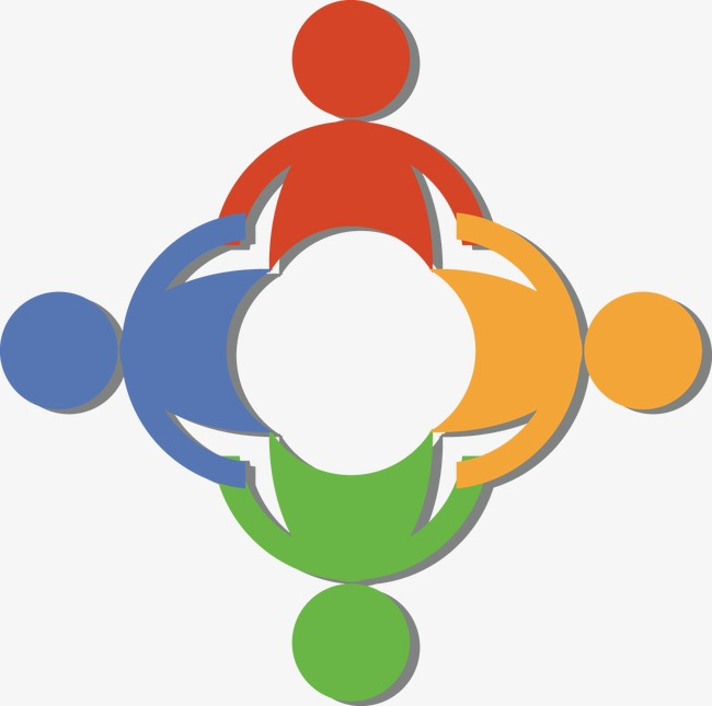 Others clipart teamwork. Icon team collective cooperation