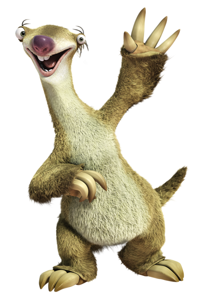 Sloth clipart sloth transparent. Ice age set png