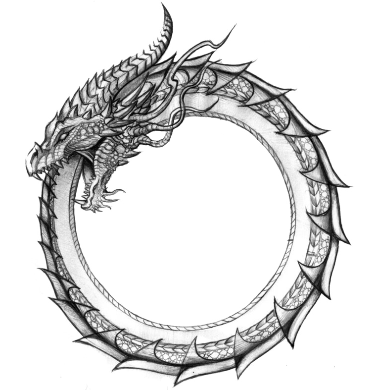 Ouroboros drawing. Midgard serpent google zoeken
