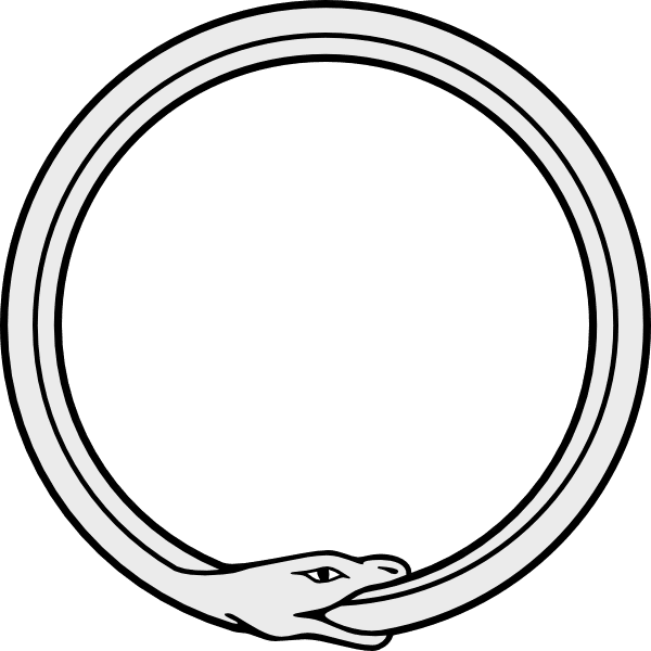 Ouroboros drawing aztec. Images snake eating its