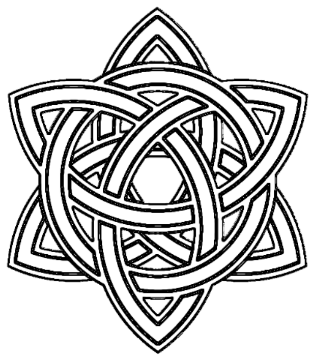Ouroboros drawing celtic knot. Triquetra circle interlaced photobucket