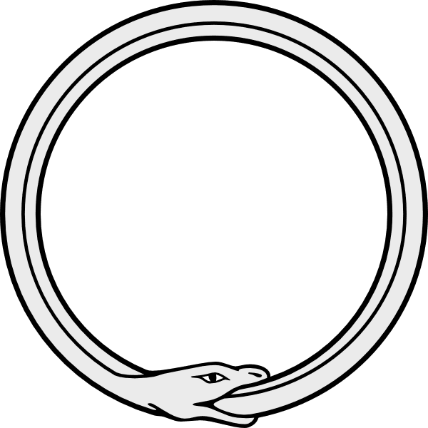Ouroboros drawing viking. Images snake eating its