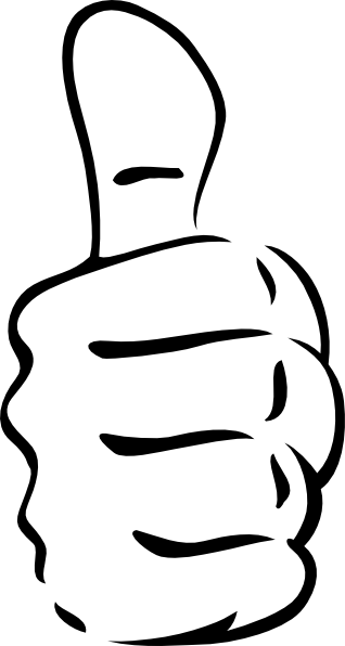 Thumb clipart thumbs clip. Up vector black and white clipart stock