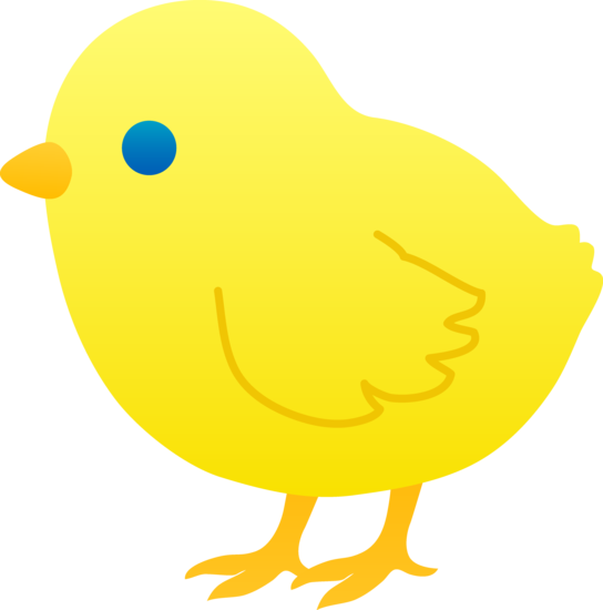 Out clipart yellow chick.