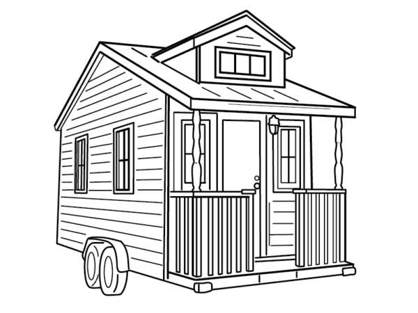 Outdoor drawing tiny. House designs styles insteading