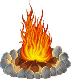 Outdoors clipart camp fire flame. Campfire clip art no