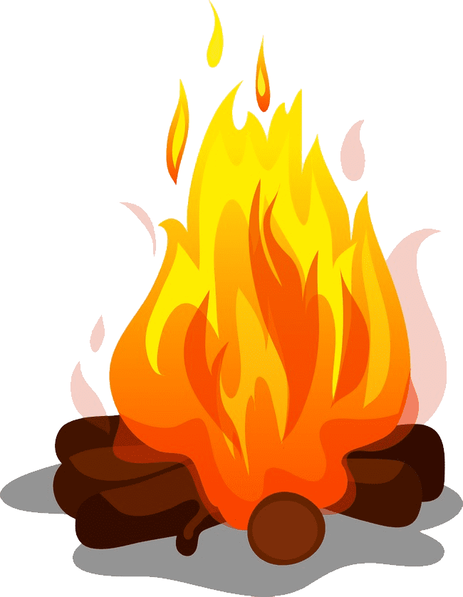 Download free png bonfire. Outdoors clipart camp fire flame vector transparent download