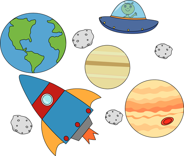 Outer clipart. Space free