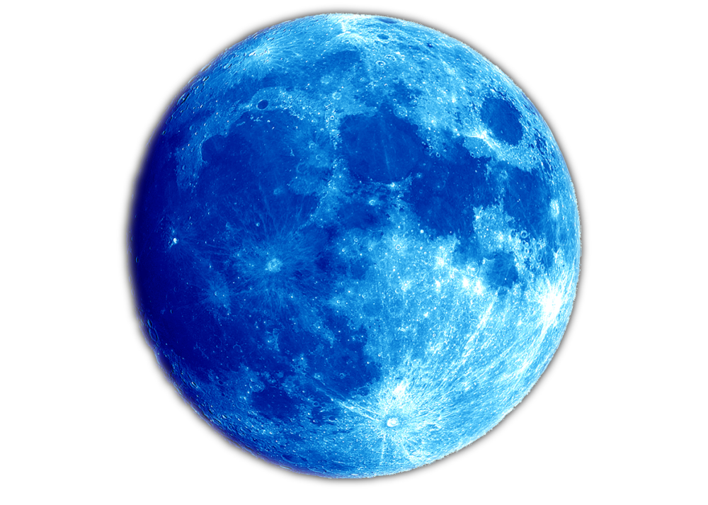Outer space background png. Blue planet moon free