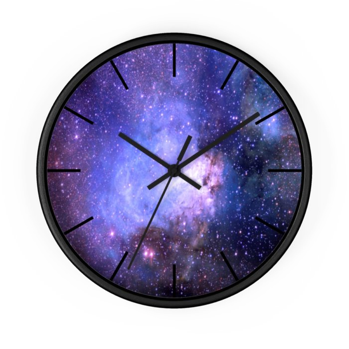 Outer space png. Wall clock mystic lotus