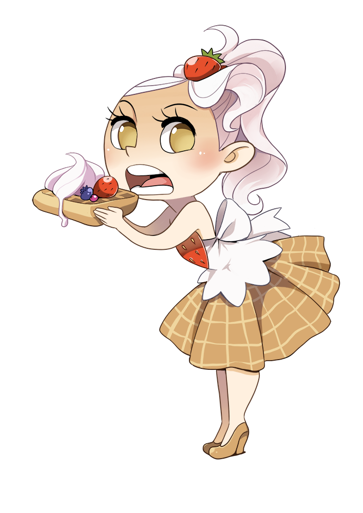 Outfits drawing food. Waffle chan by meago
