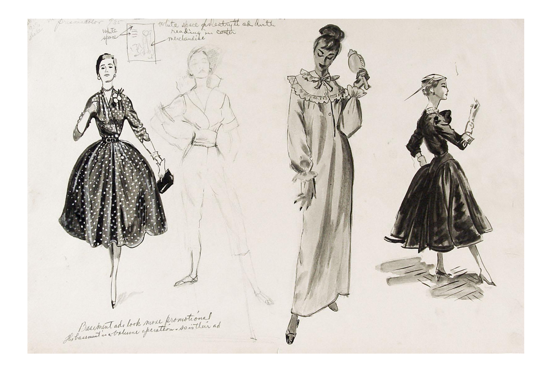 Outfits drawing forest. S fashion studies