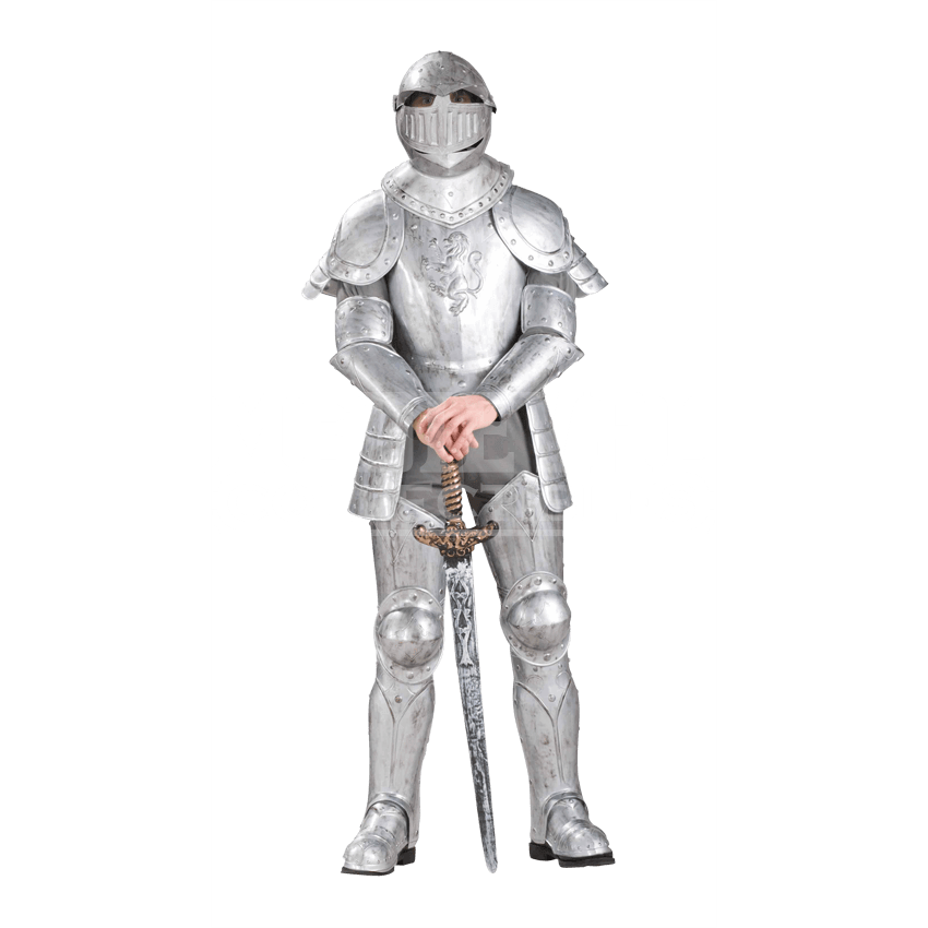 Outfits drawing knight. Medieval costumes and renaissance