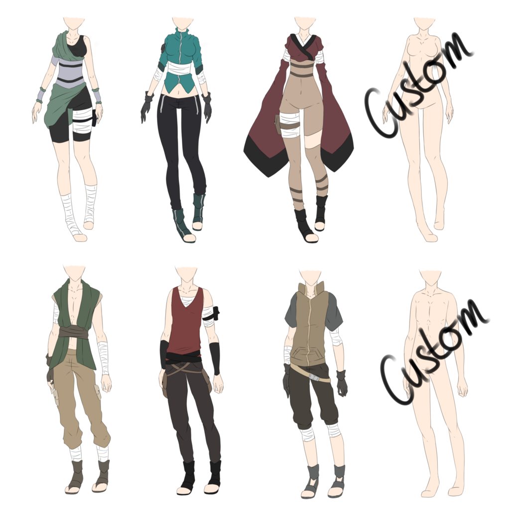 Shirts drawing anime male. Naruto outfit adoptables closed