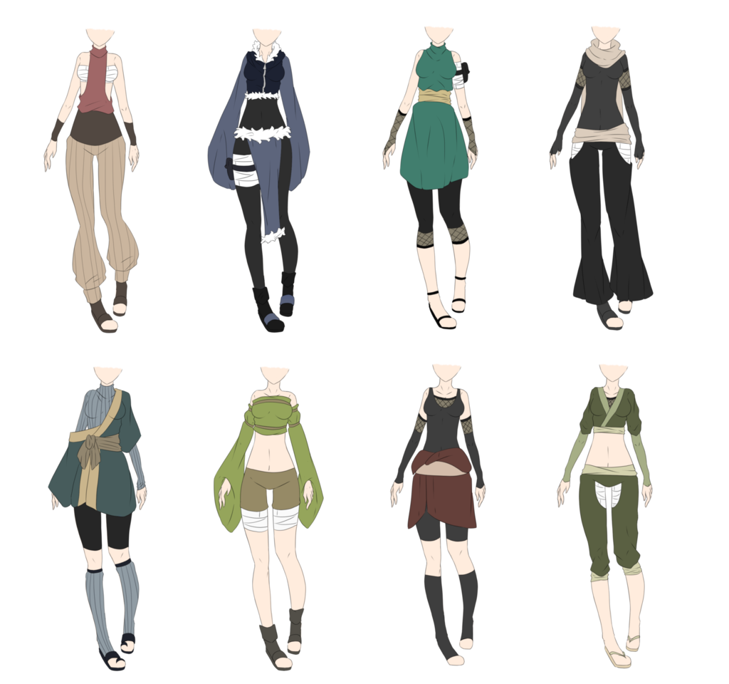 Outfits drawing forest. Naruto outfit adoptables closed