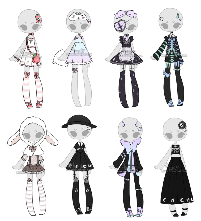 Outfits drawing victorian. Outfit adoptable mix closed