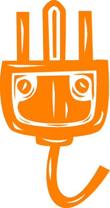 volt electrical plug. Outlet vector clipart library