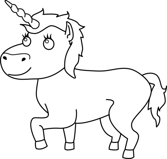 Unicorn outline png