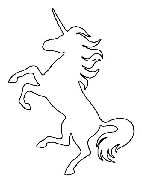 Outline clipart unicorn. Head pattern use the