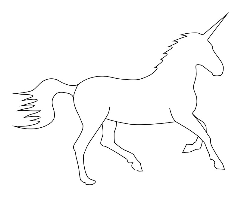 Outline clipart unicorn. Posters lucid reality redbubble