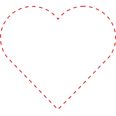 Outline heart png. Dotted transparent stickpng