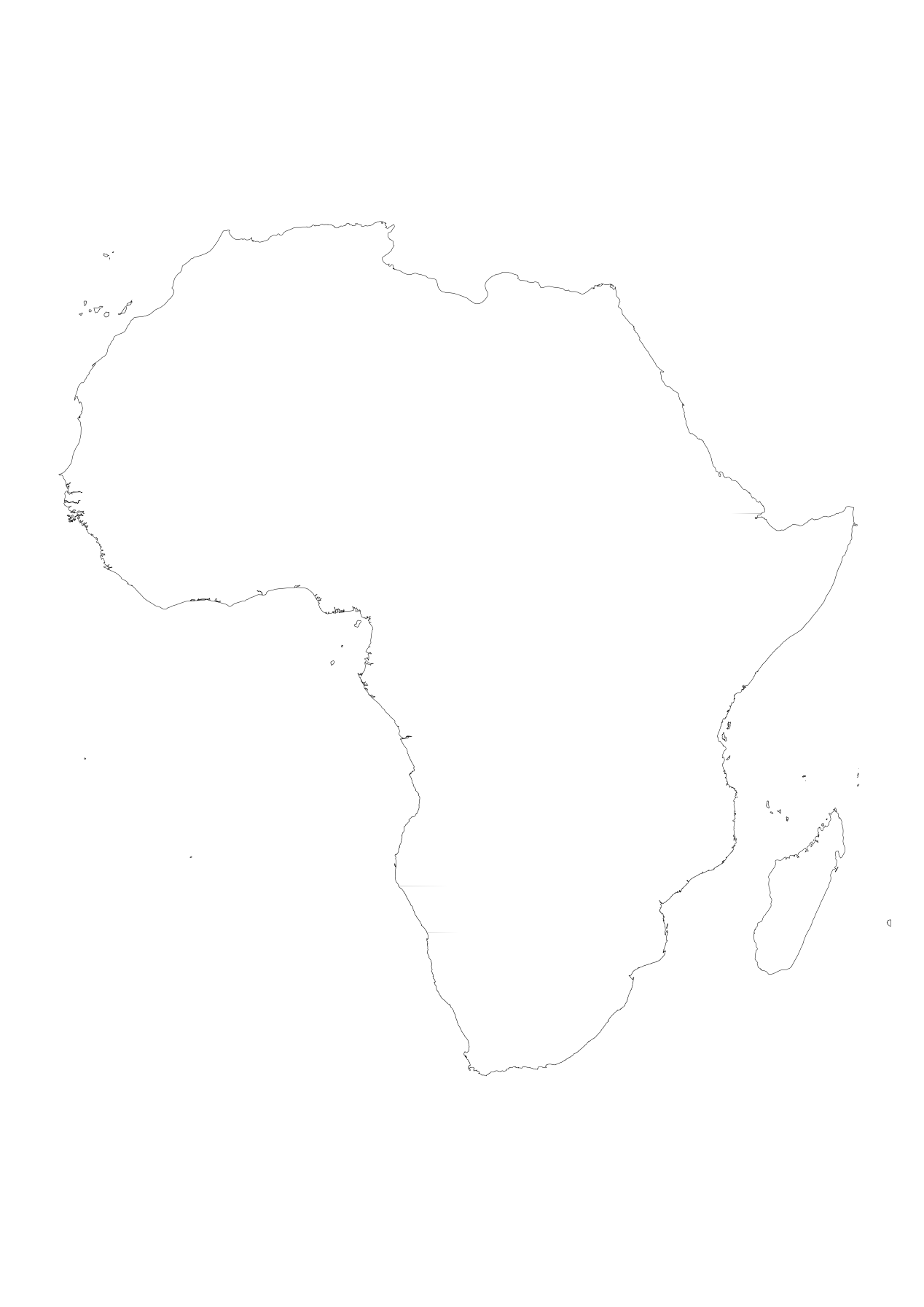 Outline of africa png. Printable maps by freeworldmaps