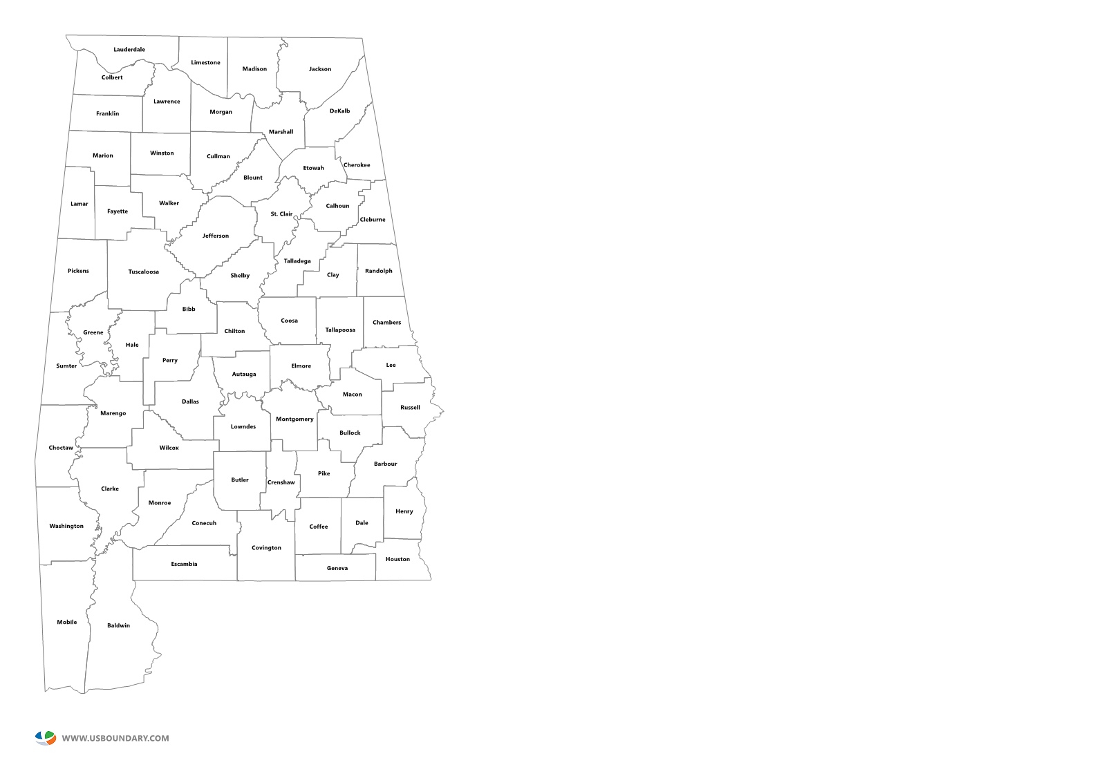 Outline of florida png. State counties maps download