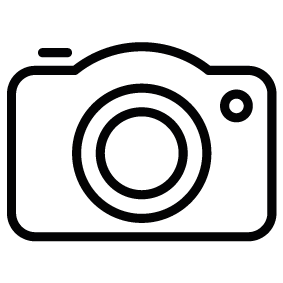 Outline vector camera. Picture silhouette of