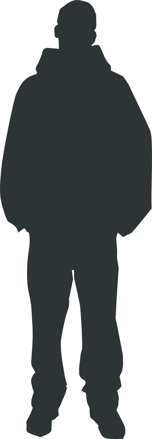 Outline vector person. Clipart i royalty free
