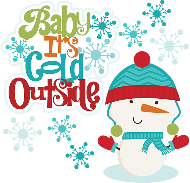 Outside clipart. It s cold its